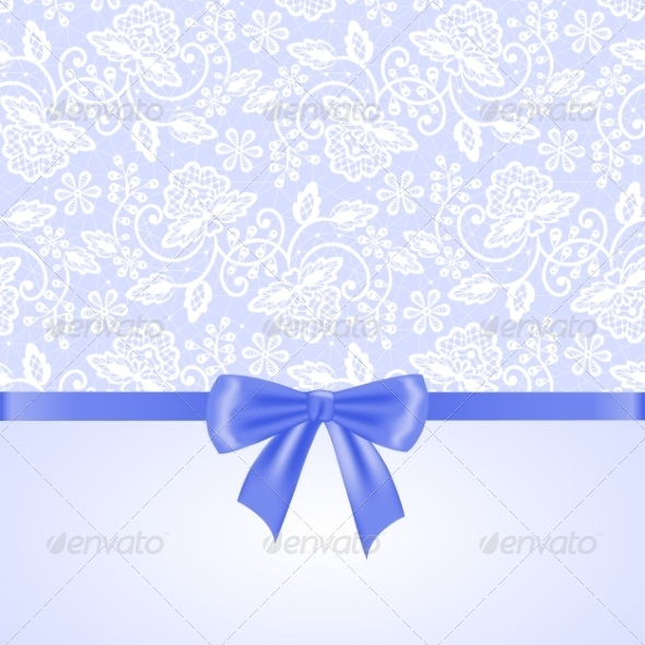 GraphicRiver White Lace and Ribbon Bow 8406617