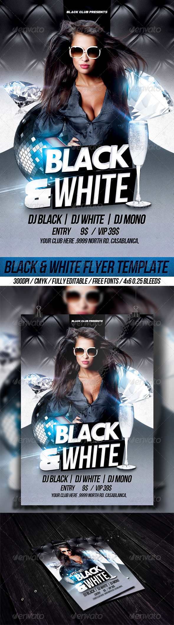 GraphicRiver Black & White Flyer Template 8406623