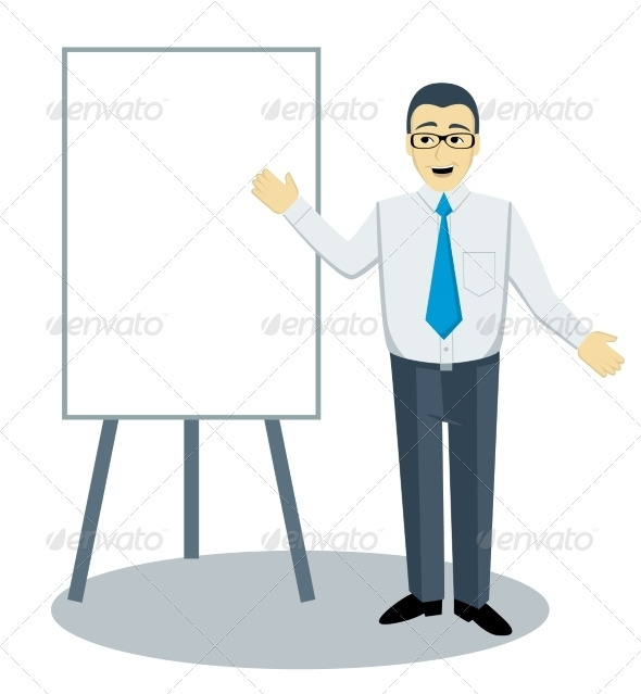 GraphicRiver Teaching Man 8406666