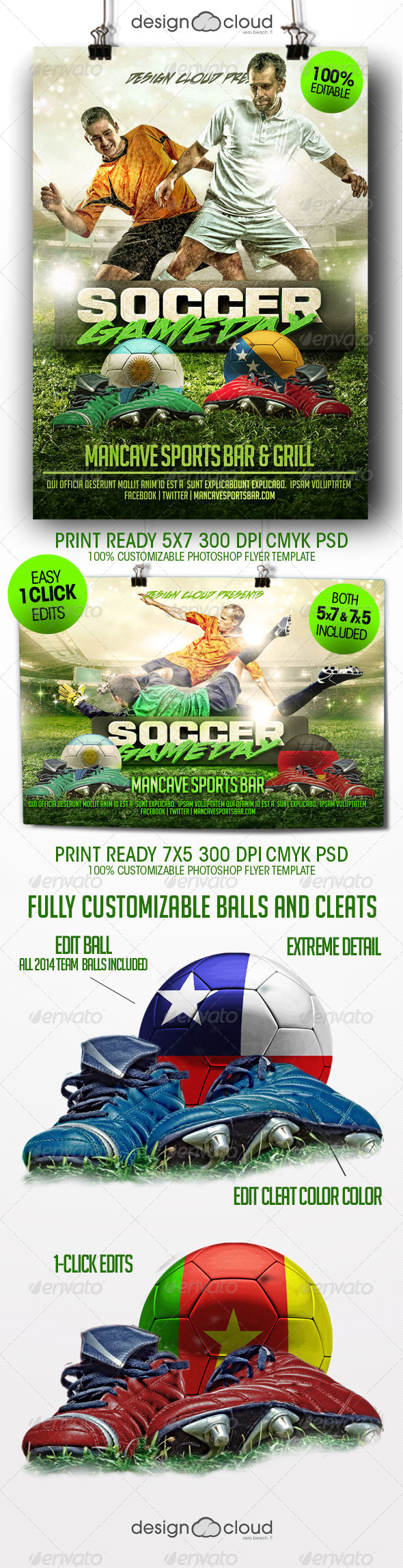 GraphicRiver Soccer Game Day Flyer Template 8406680