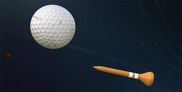 Bullet Time Golf Ball and Tee
