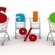 3d render shopping cart and text - PhotoDune Item for Sale