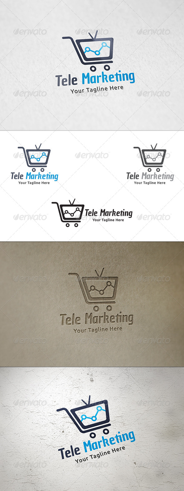 Tele Marketing Logo Template