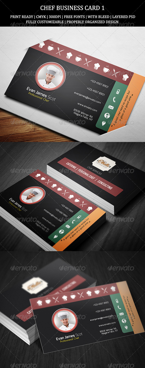 GraphicRiver Chef Business Card 1 8406883