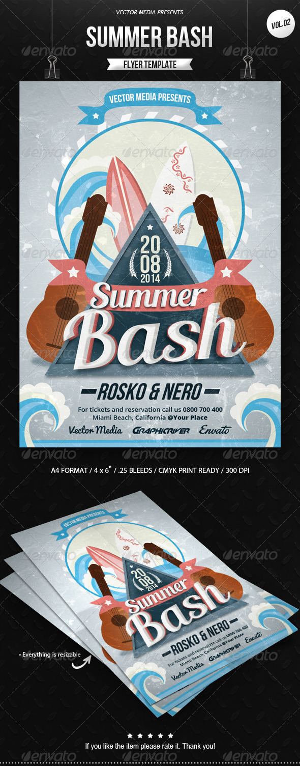 GraphicRiver Summer Bash Flyer [Vol.2] 8406068