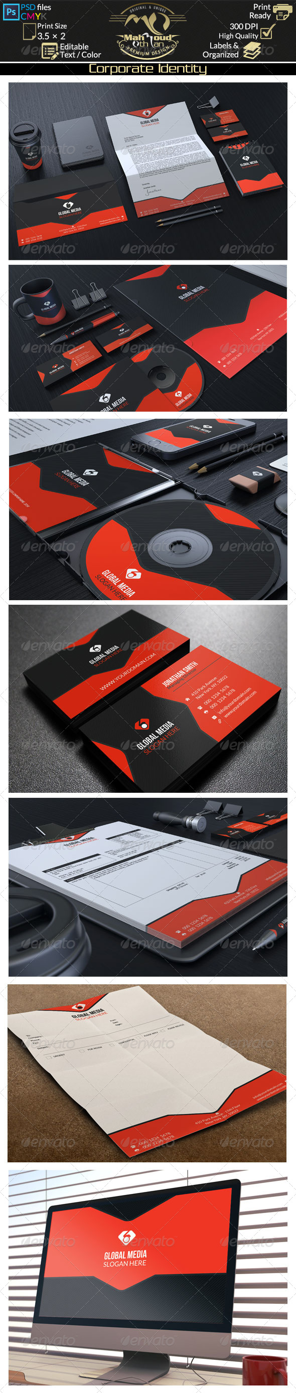 GraphicRiver Red Corporate Identity 8395243