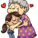 Girl Hugging Grandma - GraphicRiver Item for Sale