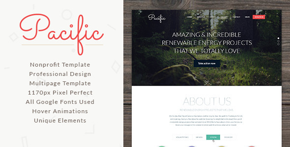 ThemeForest Pacific NonProfit Template 8407322