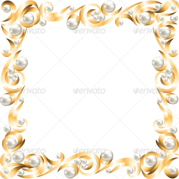 GraphicRiver Golden jewelry frame 8407641