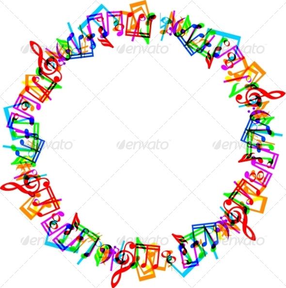 GraphicRiver Music Notes Border Frame 8407724