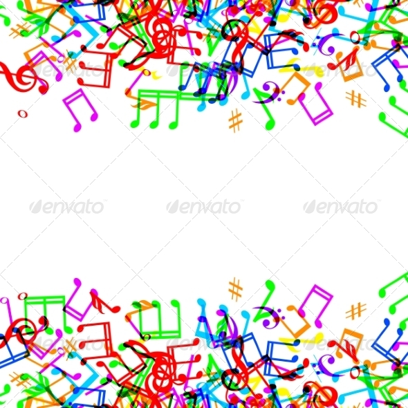 GraphicRiver Music Notes Border 8407729