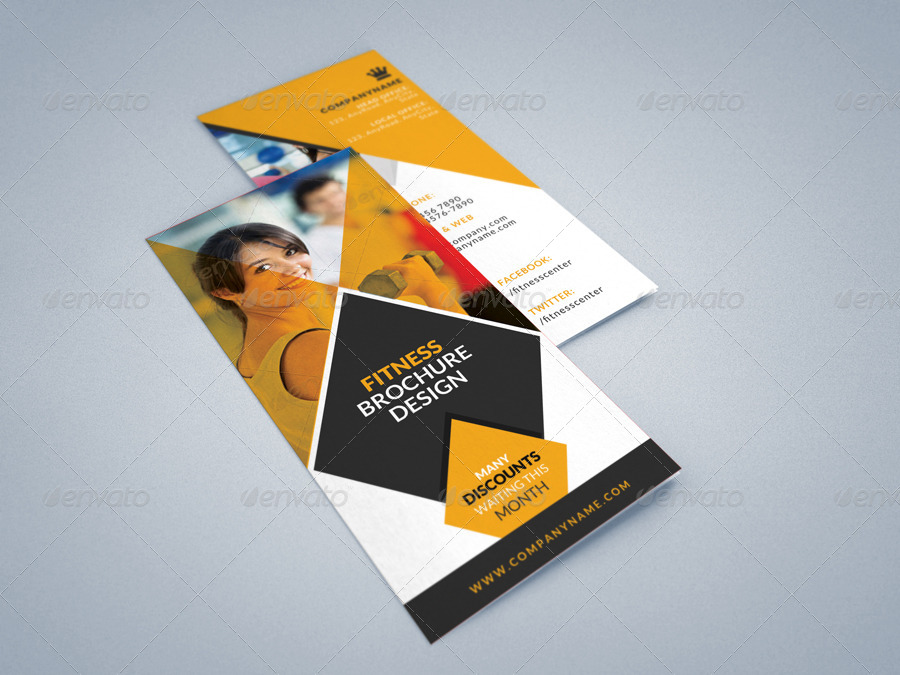 gym brochure template - fitness gym tri fold brochures template 2 by