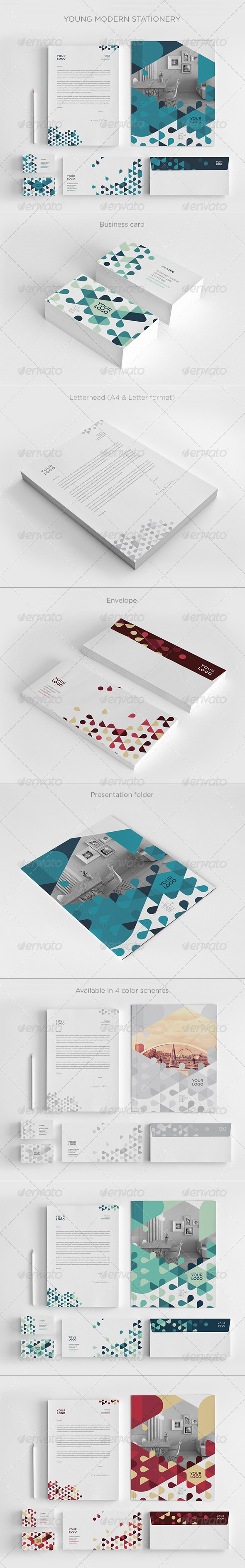 GraphicRiver Young Modern Stationery 8407744