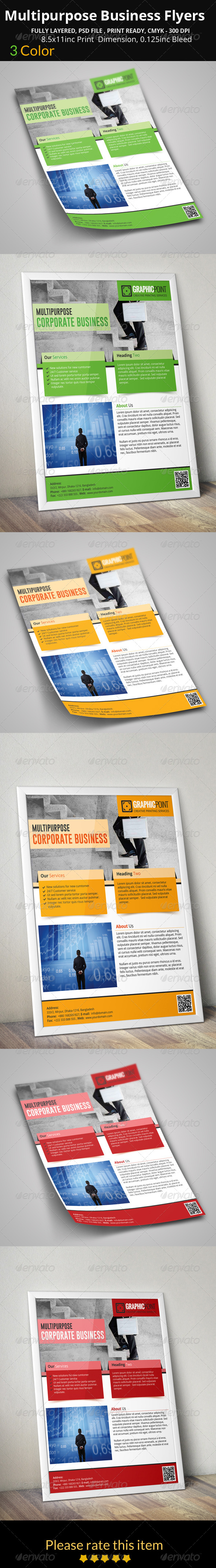GraphicRiver Multipurpose Business Flyers 8407929