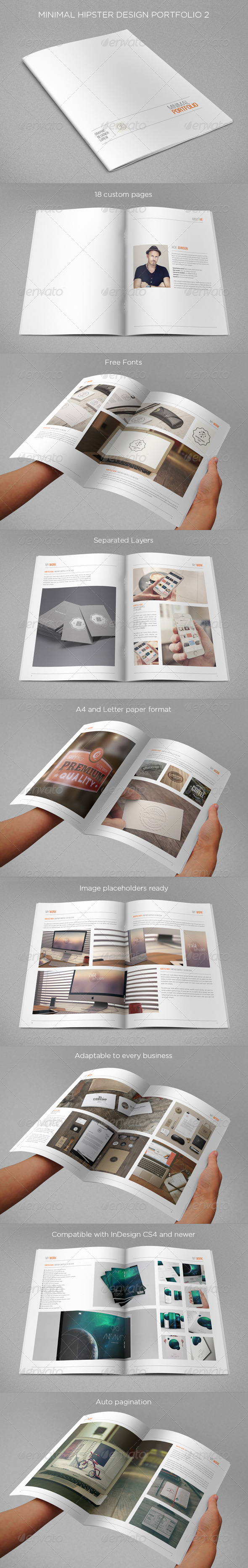GraphicRiver Minimal Hipster Design Portfolio 2 8408120