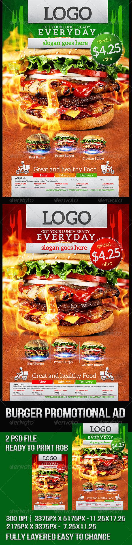 GraphicRiver Grilled Burger Promotional Flyer 8398890