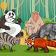mammals animals cartoon illustration - PhotoDune Item for Sale