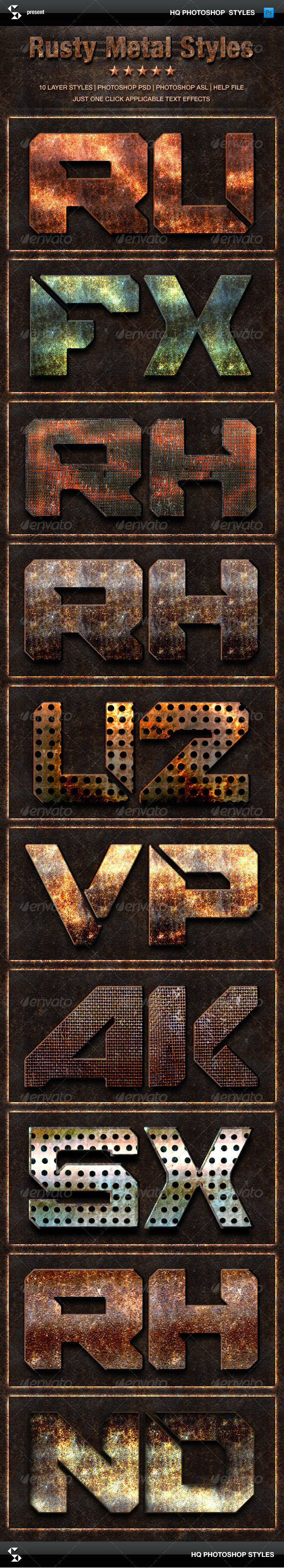 GraphicRiver Rust Metal Styles Grunge Metals Text Effects 8408226