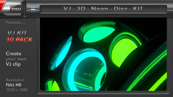 VJ 3D Neon Disc Kit