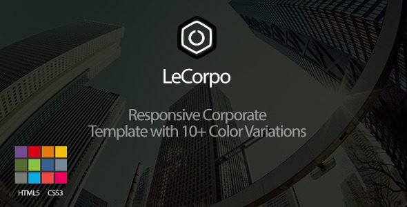 ThemeForest LeCorpo Onepage Business Template 8368025