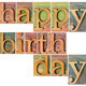 happy birthday in wood type - PhotoDune Item for Sale