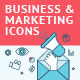 Flat Line Icons for Business and Marketing - GraphicRiver Item for Sale