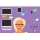 Blond Woman Thinking about Gadgets and Applications - GraphicRiver Item for Sale