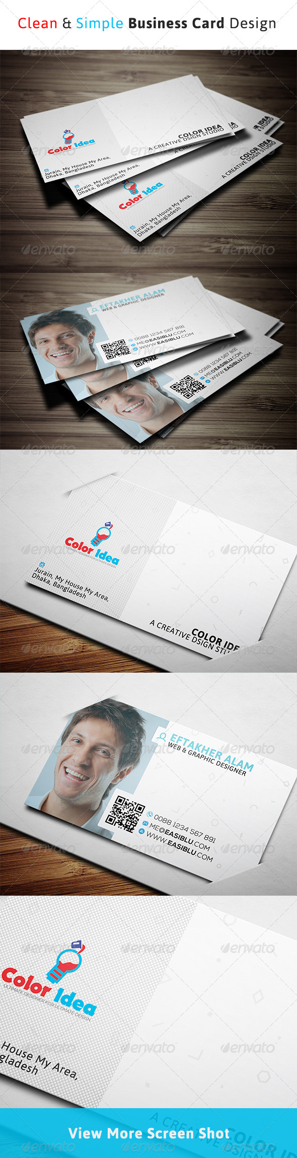 GraphicRiver Clean & Simple Business Card 8408515