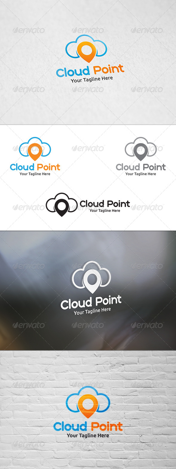 GraphicRiver Cloud Point Logo Template 8408551