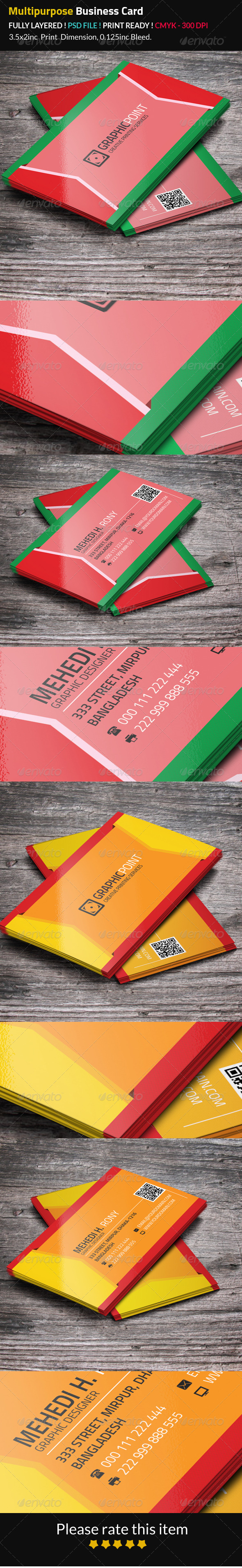 GraphicRiver Multipurpose Business Card 8408566