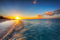 Grace Bay Beach sunset - PhotoDune Item for Sale