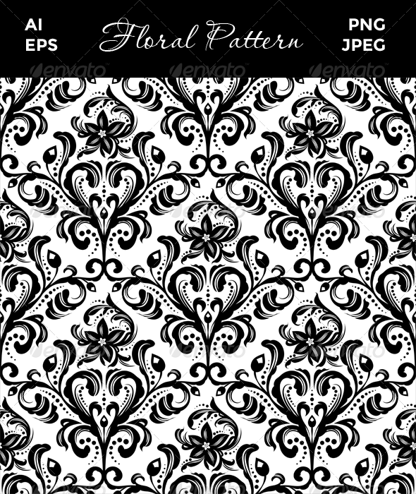 GraphicRiver Seamless Floral Pattern 8408616