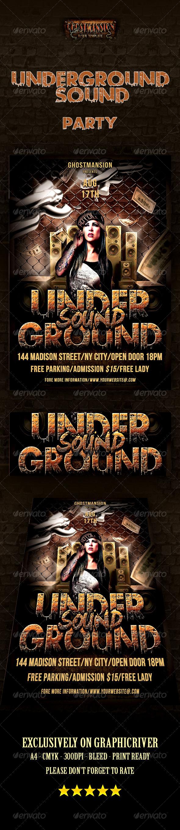 GraphicRiver Underground Sound Party 8408638