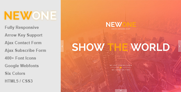 ThemeForest Newone Responsive Coming Soon Page 8391745