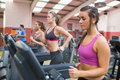 People exercising in the gym on treadmills