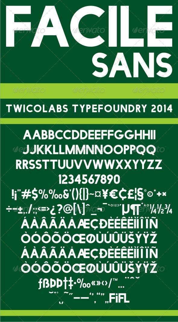 GraphicRiver Facile Sans 8408907