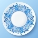 Blue Plate with Floral Ornament in Gzhel Style - GraphicRiver Item for Sale