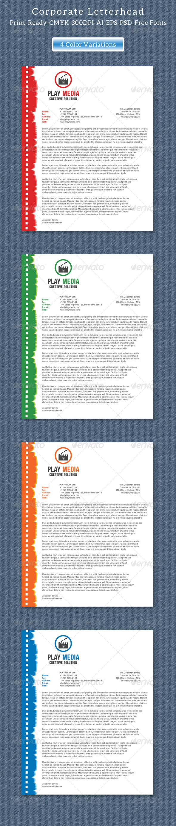 GraphicRiver Corporate Letterhead Vol.2 8408929