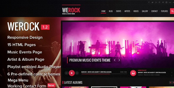 WeRock - Music & Event HTML Theme