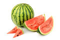 Watermelon and its parts isolated on white background - PhotoDune Item for Sale