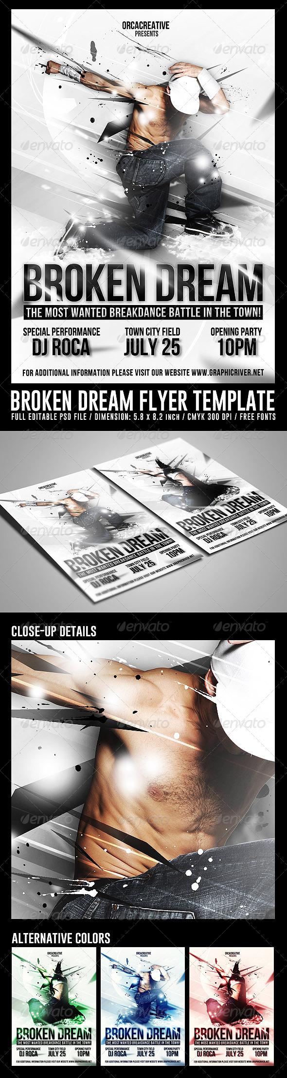 GraphicRiver Broken Dream Flyer Template 8406950