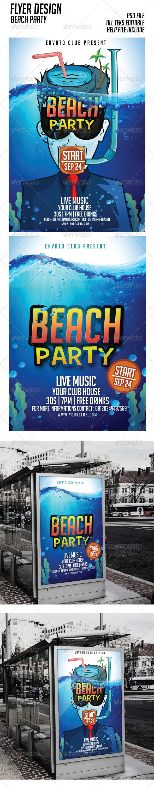 GraphicRiver Beach Party Flyer Events 8373052