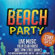 Beach Party Flyer Events - GraphicRiver Item for Sale