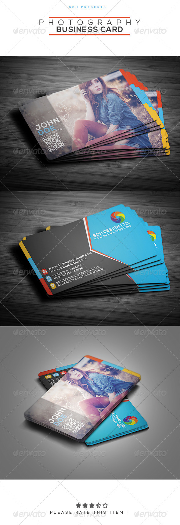 GraphicRiver Photography Business Card Template 8373002