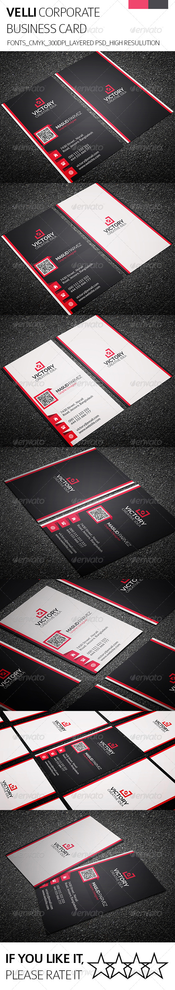 GraphicRiver Velli & Corporate Business Card 8406975