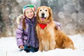 girl with golden retriever - PhotoDune Item for Sale