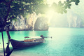 long boat on island in Thailand - PhotoDune Item for Sale