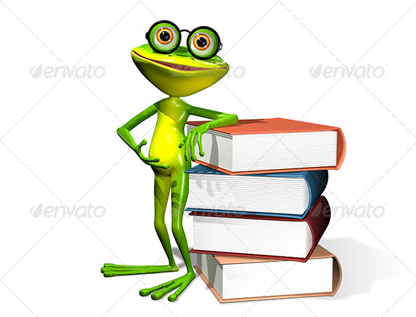 GraphicRiver Frog And Books 8409492