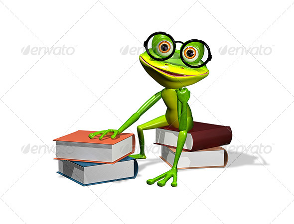 GraphicRiver Frog And Books 8409502
