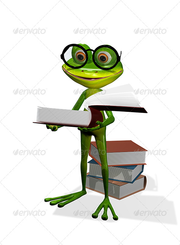 GraphicRiver Frog And Books 8409505
